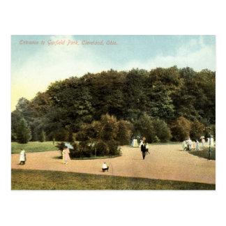 Parque de Garfield, vintage 1910 de Cleveland Ohio Postal