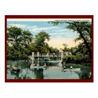 Parque de Garfield, vintage 1917 de Chicago, Postal