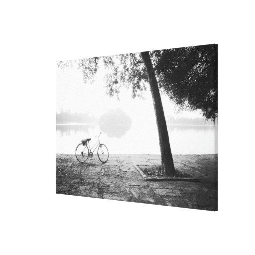 Parque de Hanoi Vietnam, de la bicicleta y de Leni Impresiones De Lienzo