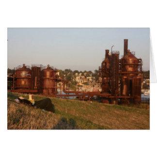 Parque de la fábrica de gas tarjeta