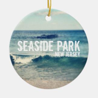 Parque de playa - 2013 - recuperación en la orilla adorno navideño redondo de cerámica