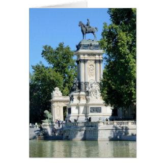 Parque de Retiro, Madrid, España Tarjeta De Felicitación