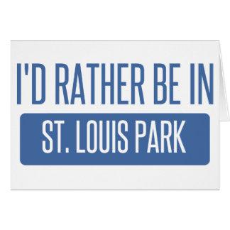 Parque de St. Louis Tarjeta