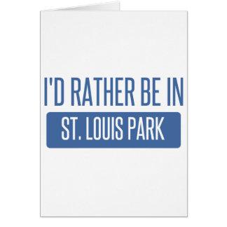 Parque de St. Louis Tarjeta De Felicitación