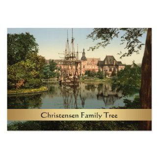 Parque de Tivoli, árbol de familia de Copenhague, Tarjetas De Visita Grandes