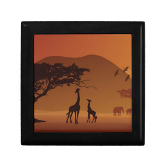 Parque del safari caja de recuerdo