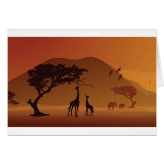Parque del safari tarjeta