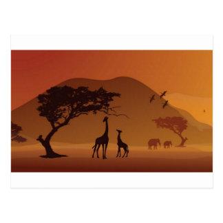 Parque del safari tarjetas postales