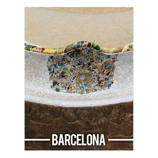 Parque Guell, Barcelona España de Gaudi Postal