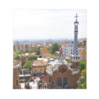 Parque Guell en Barcelona, España Bloc De Notas