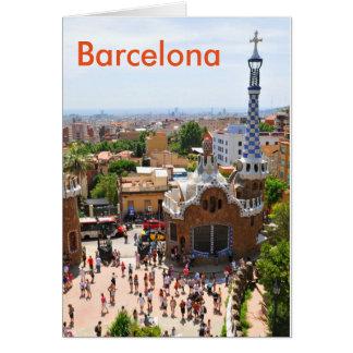 Parque Guell en Barcelona, España Tarjeta