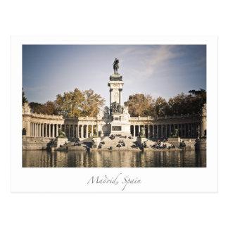 parque Madrid España del retiro Postal