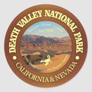 Parque nacional de Death Valley Pegatina Redonda