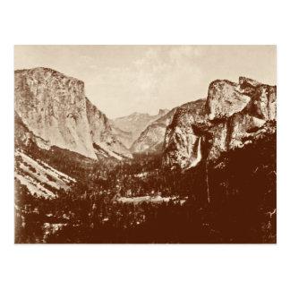 Parque nacional de Yosemite del vintage Postal
