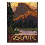 Parque nacional de Yosemite - medio poster del via Tarjeta Postal