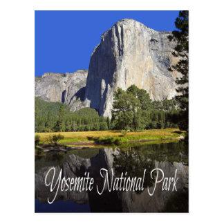 Parque nacional de Yosemite, postal de California