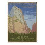 Parque nacional de Zion Springdale 1938 Utah Postales