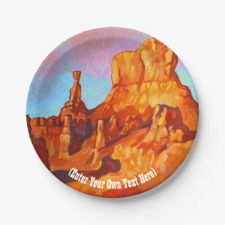 Parque nacional del barranco de Bryce - Utah Plato De Papel