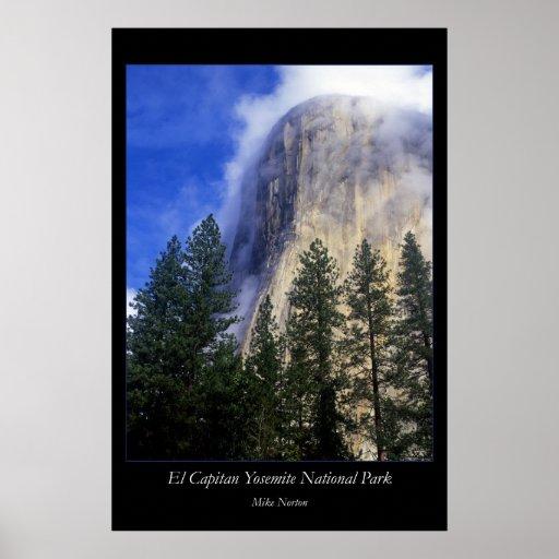 Parque nacional del EL Capitan Yosemite Impresiones