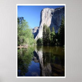 Parque nacional del EL Capitan Yosemite Póster