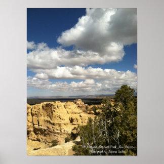 Parque nacional del EL Malpais, New México Póster