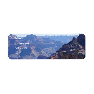 Parque nacional del Gran Cañón, borde del sur Etiqueta De Remitente
