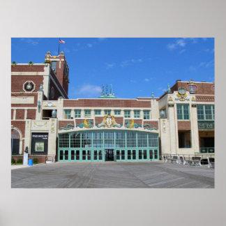 Parque NJ de Asbury del teatro/del teatro de Param Póster