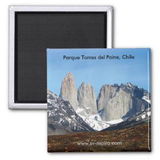 Parque Torres del Paine, Chile Imán Cuadrado
