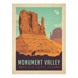 Parque tribal de Navajo del valle el   del Postal