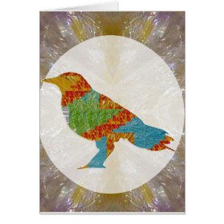Parque zoológico salvaje del pájaro del cuervo del tarjeta de felicitación
