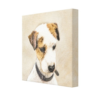 Párroco Jack Russell Terrier que pinta arte de 2