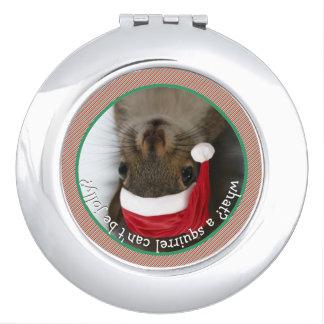 Parte-Ardilla: La ardilla de Santa está viniendo a Espejo De Maquillaje