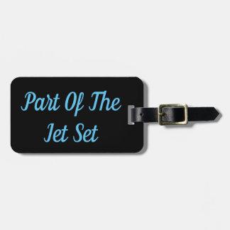Parte de la etiqueta del equipaje del jet set