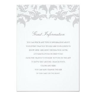 Parte movible atractivo de la bodas de plata invitación 11,4 x 15,8 cm