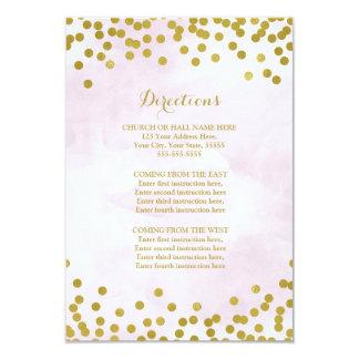 Parte movible de la dirección del boda del oro de invitación 8,9 x 12,7 cm