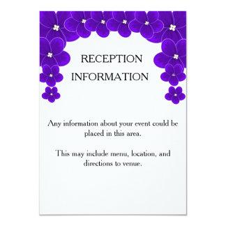 Parte movible de la invitación de la violeta