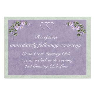 Parte movible de la recepción de la invitación del tarjeta personal