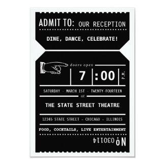 Parte movible de la recepción del boleto de teatro invitación 8,9 x 12,7 cm