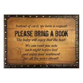 Parte movible de madera de la petición del libro tarjetas de visita grandes