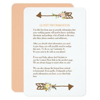 Parte movible del boda del ramo floral del invitación 8,9 x 12,7 cm