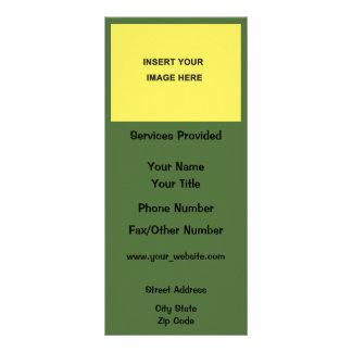 Parte movible del verde amarillo su propia lonas personalizadas