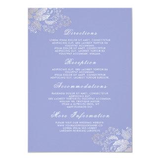 Parte movible floral púrpura de los detalles del invitación 11,4 x 15,8 cm
