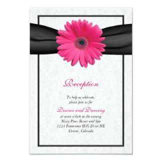 Parte movible rosado de la recepción nupcial de la invitación 8,9 x 12,7 cm