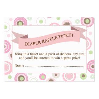 Parte movible rosado del boleto de la rifa del tarjetas de visita grandes
