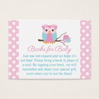 Parte movible rosado del libro del Tarjeta-Búho de Tarjeta De Visita