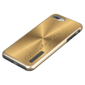 Parte radial metálica personalizada del oro del funda DualPro shine de incipio para iPhone 7 plus