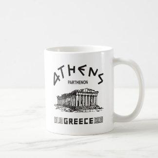 Parthenon - Atenas - Griego (negro) Taza