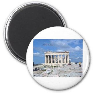 Parthenon de Atenas Imán Redondo 5 Cm