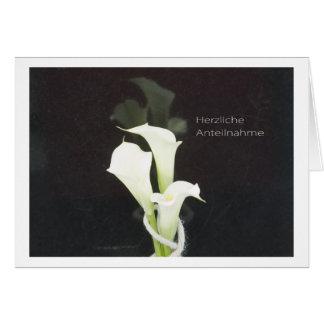 Participación cordial tarjeta