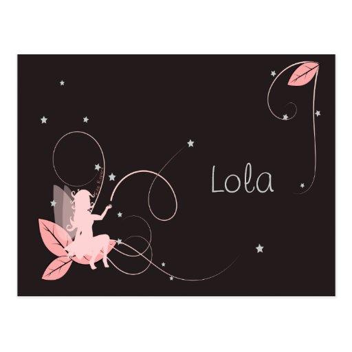 Participación de nacimiento hada rosada estrellas  tarjeta postal